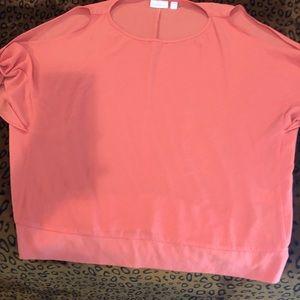 Peach short sleeve shirt